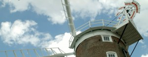 FIlming Cley next the Sea windmill