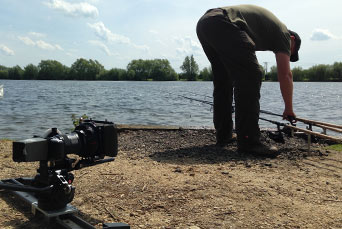 Filming Pure Fishing Carp at Horseshoe Lake