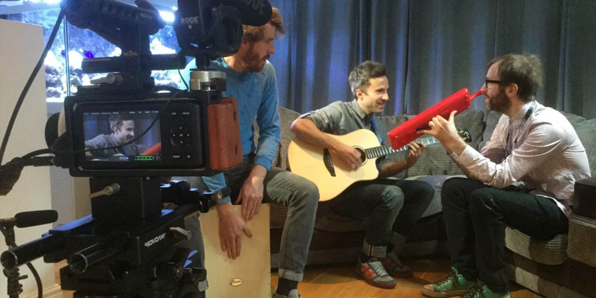 Filming The Hooziers acoustic set for the SPG