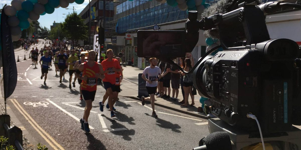 Live streaming Run Norwich 2018 using a 4K camera