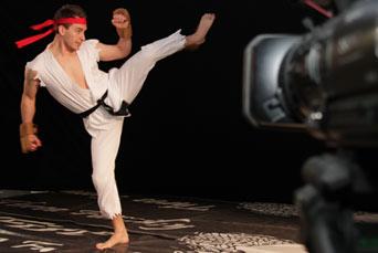 Filming Darth Vader vs Ryu Viral Film